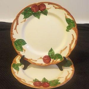 2 Franciscan Dinner Plates Apple England Backstamp